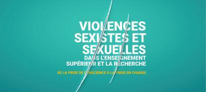 Colloque international violences sexistes et sexuelles dans l'ESR - visuel + typo